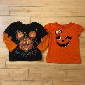 Lot of Two (2) Halloween Shirt Tops 3T
